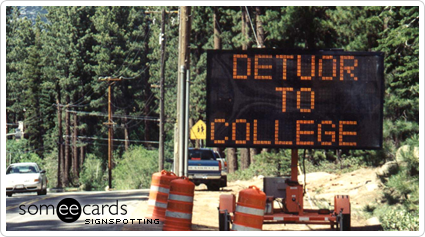 detour college signspotting ecard someecards